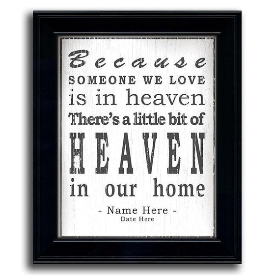 Personalized Memorial Gift - Framed Art with Quote from Personal-Prints
