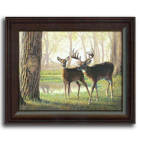 Personalized Whitetails 2 - Framed under glass