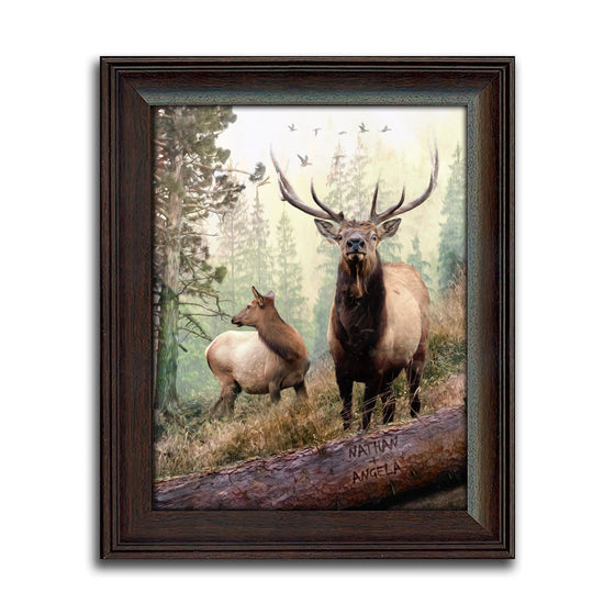 Bull Elk framed art print - from Personal-Prints