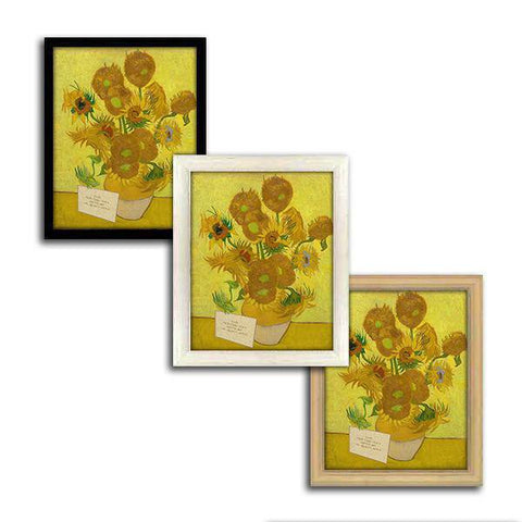 Sunflowers framed canvas options