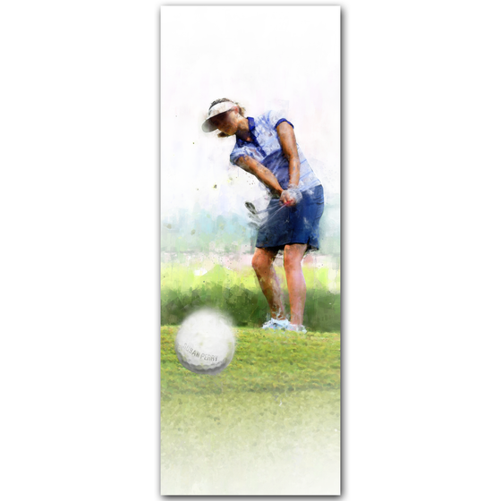 Personalized Women's Golf Art Print- Block Mount