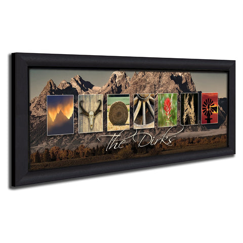 WYOMING - State Name Art