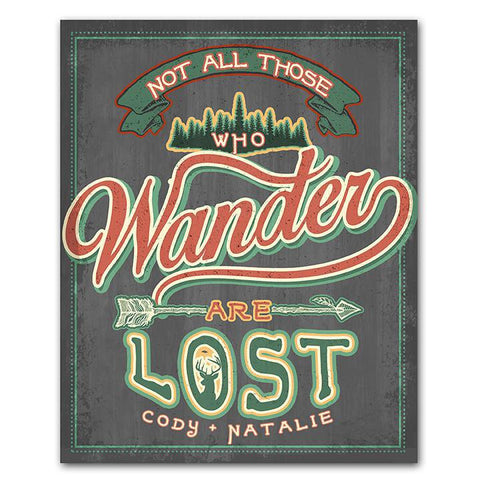 Not All Those Who Wander Are Lost - Personalized Art