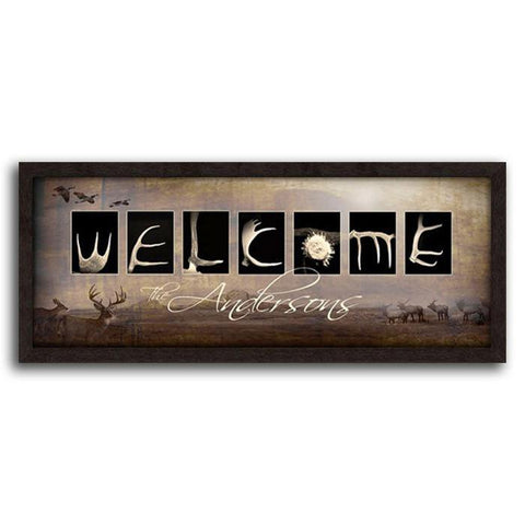 Welcome - Framed Canvas