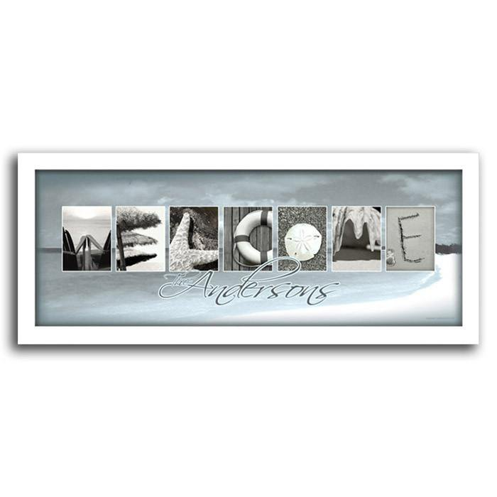 Letters In Photography | Beach House Art | Framed Coastal Art ...