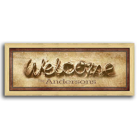 Welcome - Personalized Framed Canvas