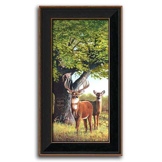 Personalized painting of deer in a green forest - Personal-Prints