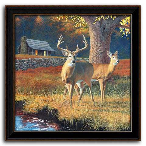 Whitetail Morning - Personalized art by Scott Kennedy - Framed Canvas