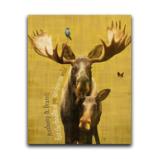Personalized moose wall decor - Personal-Prints