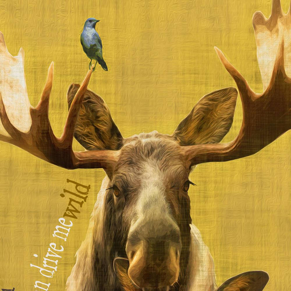 Moose Wall Decor - Stay Wild With This Moose Nature Painting ...