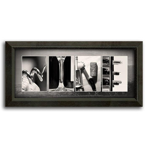 Wine Letter Art Mini - Canvas art