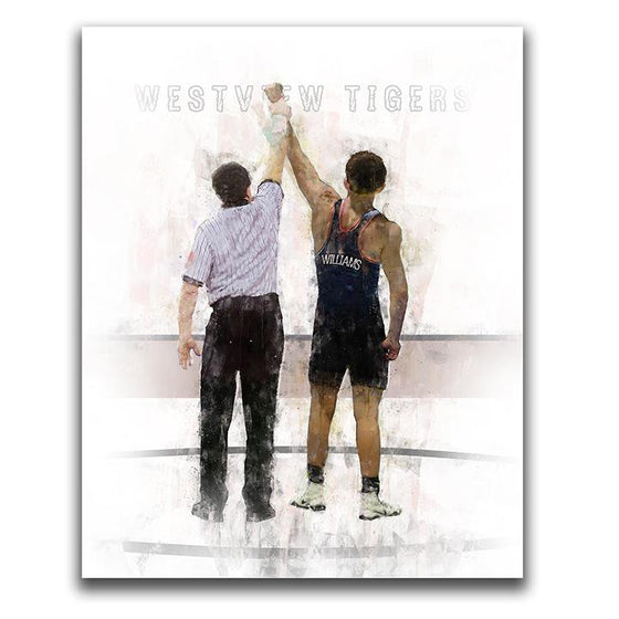 Wrestling Art Print Personalized by You- Block Mount