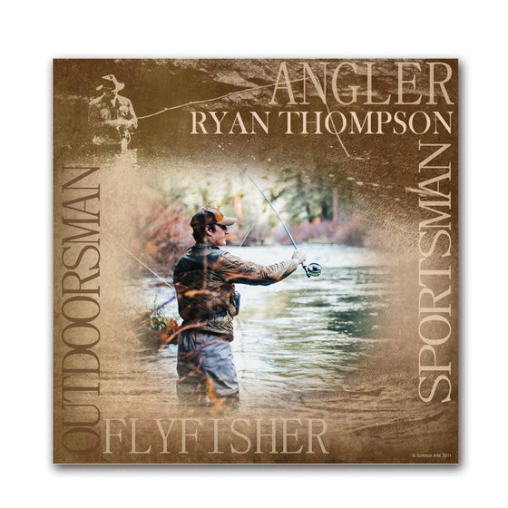 Fly Fishing Photo Gift Personalized for you from Personal-Prints