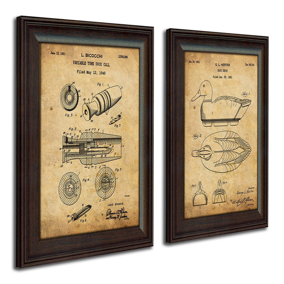 Patent art prints of the original patent art for duck calling tool and decoy - Personal-Prints