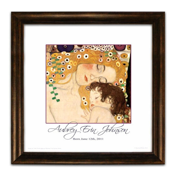 Masterpiece art of Gustav Klimt's Mother & Child - Personal-Prints