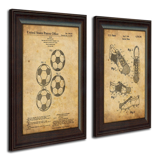 Vintage sports art set from USA Soccer patent drawings - Personal-Prints