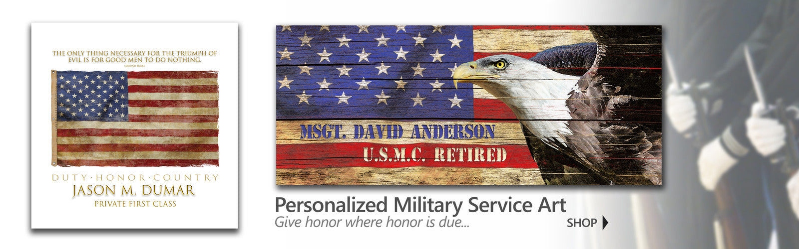 Personalized art for veterans and Memorial Day