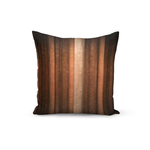 Earth Tone Stripes Pillow Cover