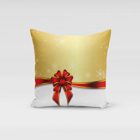 Red Bow Pillow Cover