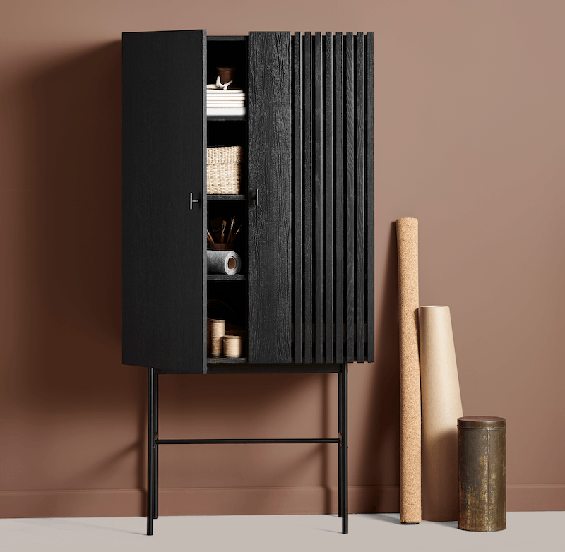 Array highboard in black oak from WOUD