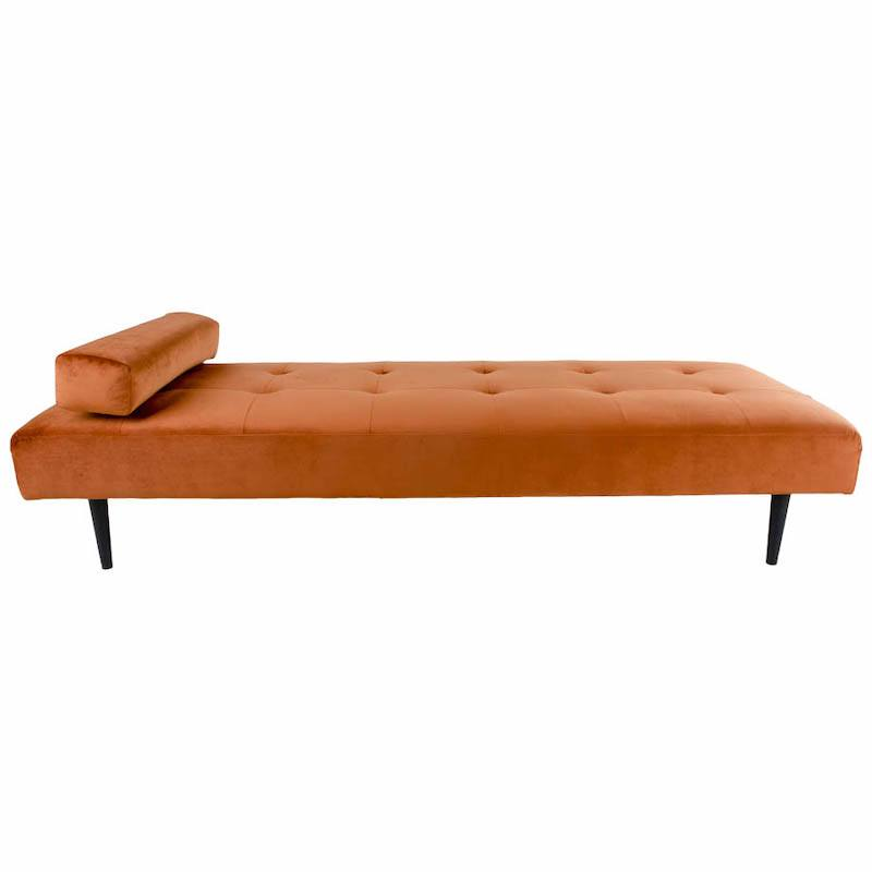 Orange velour daybed fra House Nordic