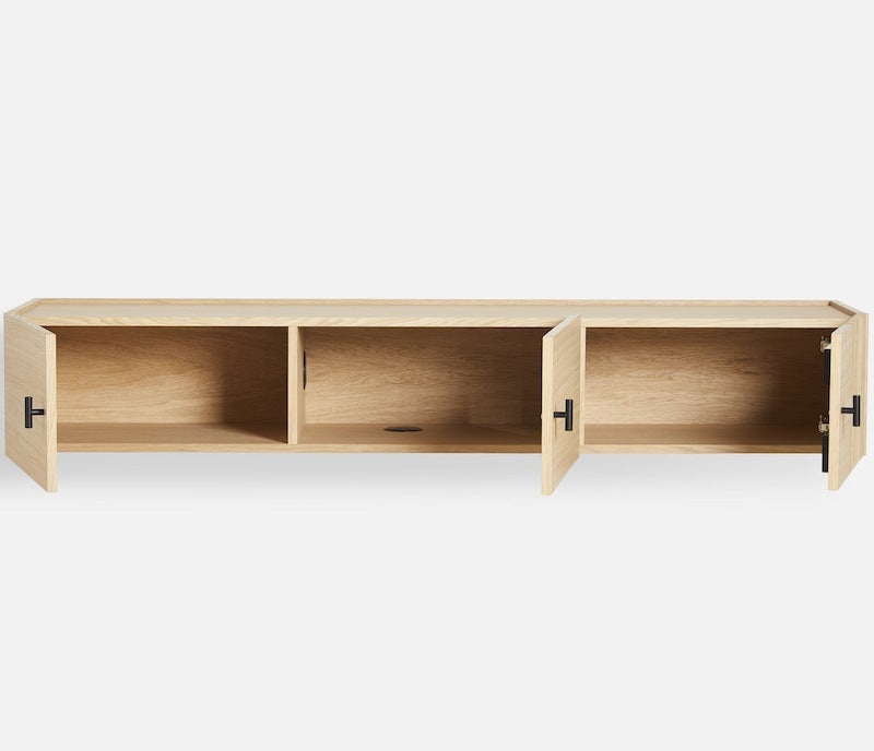 WOUD Array wall-mounted sideboard 150 cm in oak