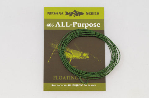 406 All-Purpose Furled Leader (FLOATING Fly Fishing Leader)