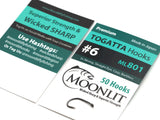 Moonlit TOGATTA ML801 Premium Barbless Hook (50 pack)