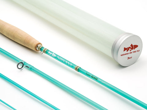3wt NIRVANA SuperGLASS Fiberglass Fly Fishing Rod