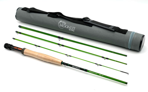 2wt Moonlit Lunar S-GLASS Fiberglass Fly Rod w/case