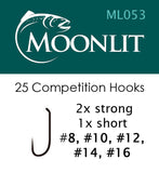 Moonlit ML053 Competition Barbless Hook (25 pack)