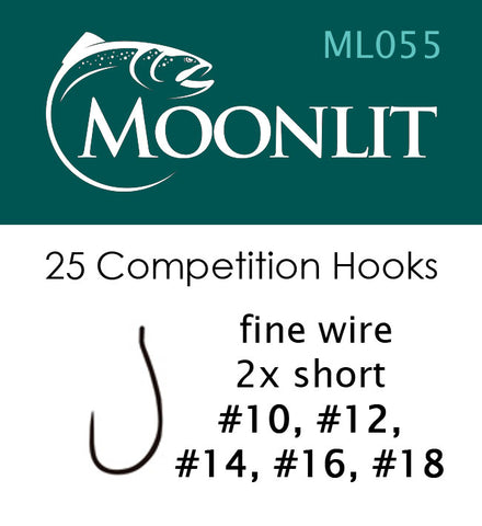 Moonlit ML055 Competition Barbless Hook (25 hooks)