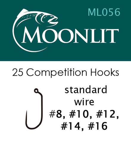 Moonlit ML056 Competition Barbless Hook (25 hooks)