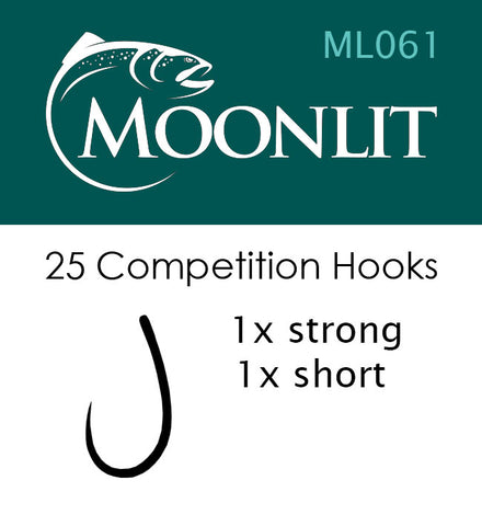 Moonlit ML061 Competition Barbless Hook (25 Pack)