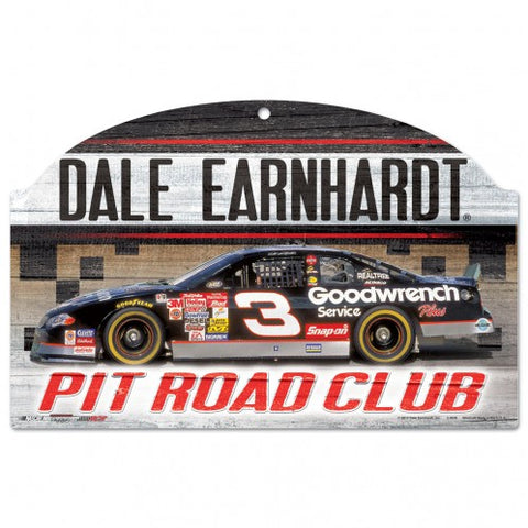 Dale Earnhardt Pit Road Club Wood Sign