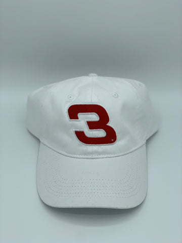 No. 3 Unstructured Hat - White