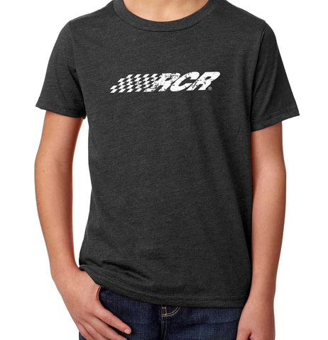 RCR Distressed Logo Youth Tee Charcoal