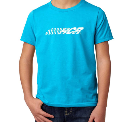 RCR Distressed Logo Youth Tee Turquoise