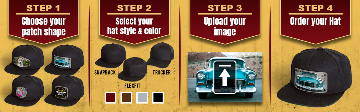directions on how to buy your custom image hats
