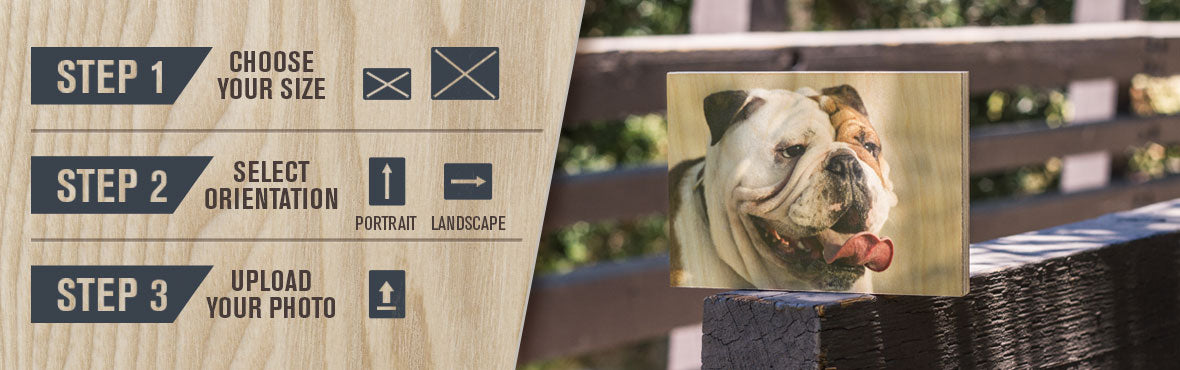instructions on how to order your wooden photo canvas