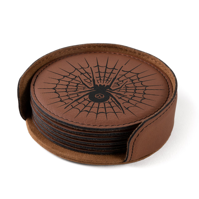 Leatherette Coaster - Spider
