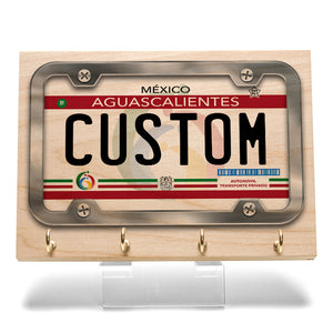Aguascalientes License Plate Key Rack