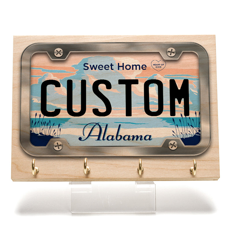 Alabama License Plate Key Rack
