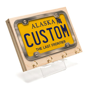 Alaska License Plate Key Rack