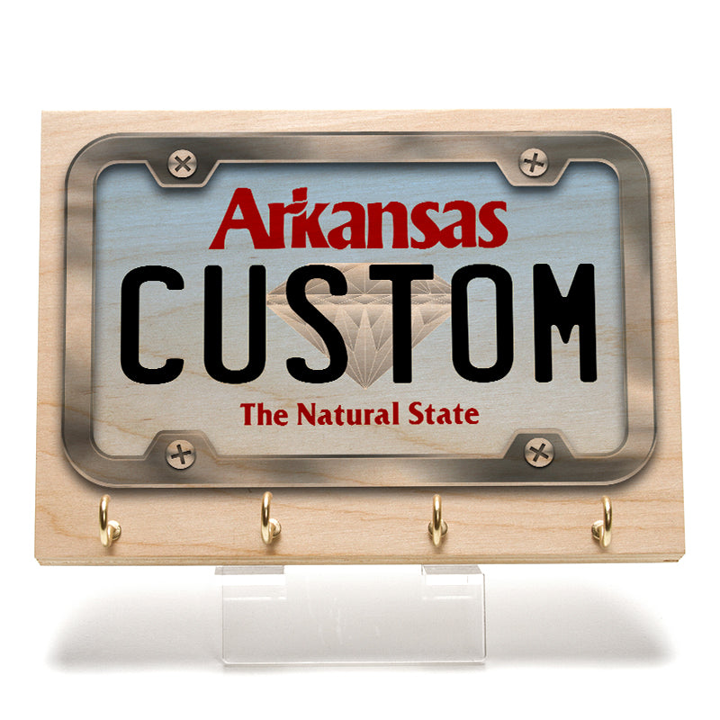 Arkansas License Plate Key Rack