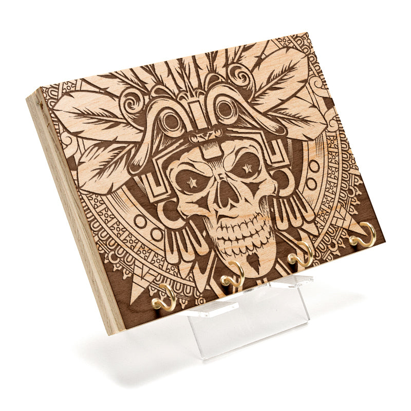 Aztec Skull Key Rack