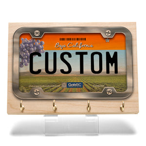 Baja California License Plate Key Rack