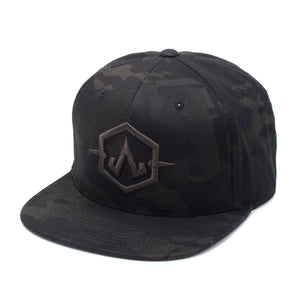 Embroidered Apex Black Camo
