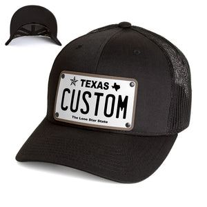 Texas White Plate Hat