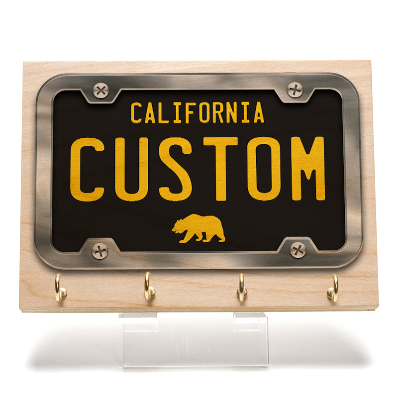 California Black License Plate Key Rack